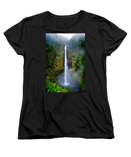 Akaka Falls Women's T-Shirt (Standard Cut) by Christopher Holmes