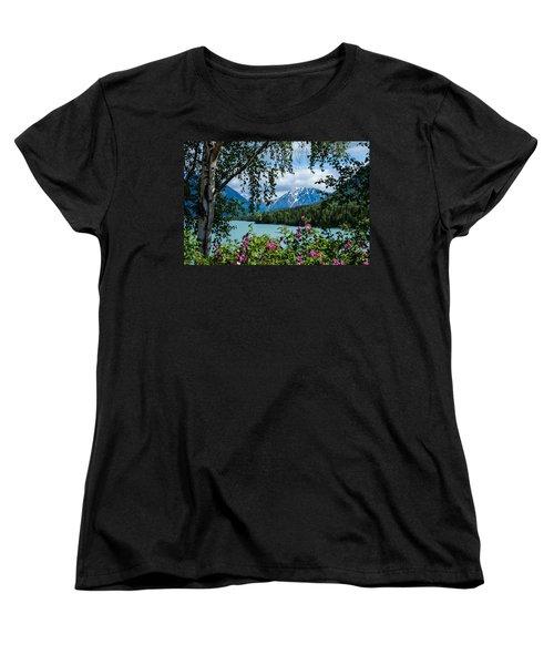 Alaska Through The Trees Women's T-Shirt (Standard Cut) by John McArthur