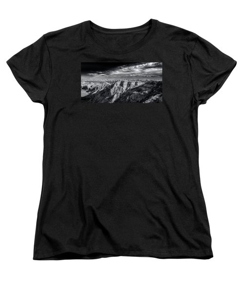 Women's T-Shirt (Standard Cut) featuring the photograph Alberta Badlands by Wayne Sherriff