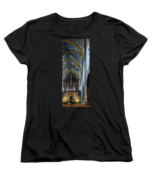 Albi Cathedral Nave Women's T-Shirt (Standard Cut) by RicardMN Photography