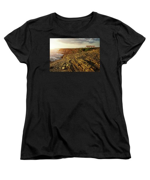 Women's T-Shirt (Standard Cut) featuring the photograph Alentejo Cliffs by Carlos Caetano