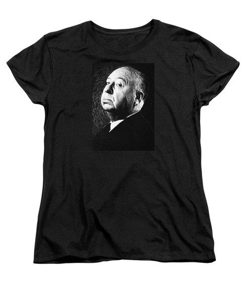 Alfred Hitchcock Women's T-Shirt (Standard Cut) by Taylan Apukovska