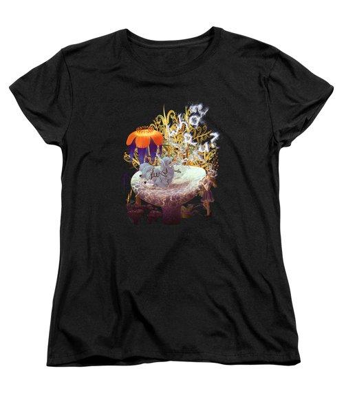 Women's T-Shirt (Standard Cut) featuring the digital art Alice N The Hookah Caterpillar by Methune Hively
