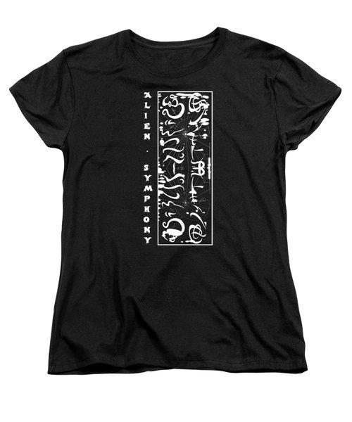 Alien Symphony T Shirt Women's T-Shirt (Standard Cut) by Robert G Kernodle