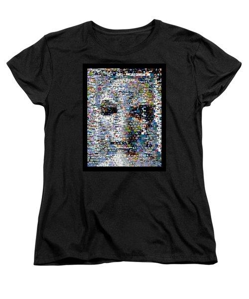 Women's T-Shirt (Standard Cut) featuring the mixed media Alien Ufo Mosaic by Paul Van Scott