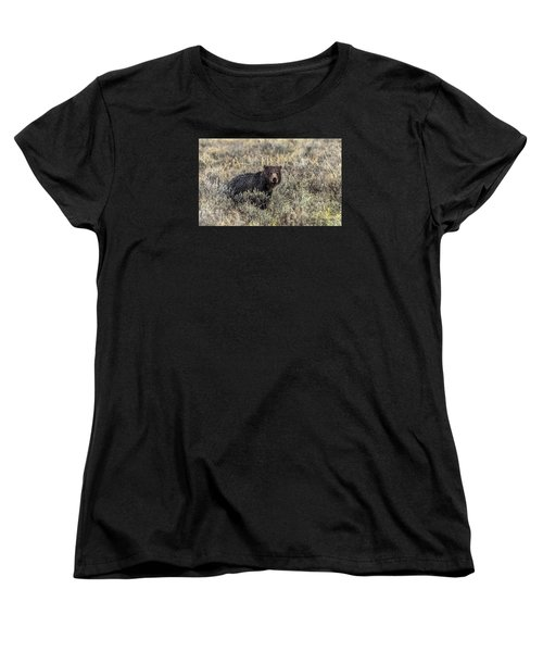 Women's T-Shirt (Standard Cut) featuring the photograph All Alone by Yeates Photography