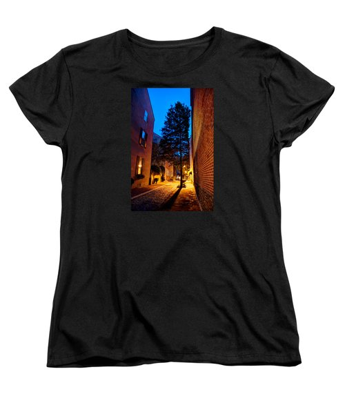 Women's T-Shirt (Standard Cut) featuring the photograph Alleyway by Mark Dodd