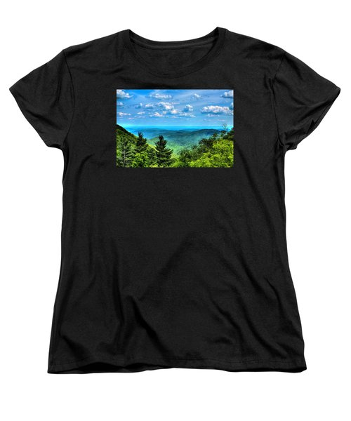 Alligator Back Overlook Women's T-Shirt (Standard Cut) by Dale R Carlson