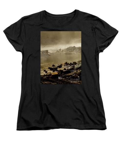 Women's T-Shirt (Standard Cut) featuring the photograph Alone In The Mist by Iris Greenwell