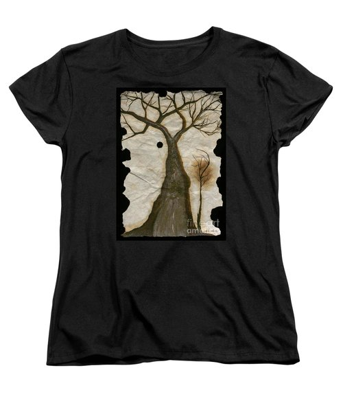 Along The Crumbling Fork In The Road Of The Tree Of Life Acfrtl Women's T-Shirt (Standard Cut) by Talisa Hartley
