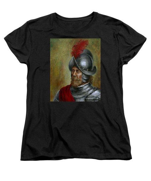 Alonso De Alvarado Women's T-Shirt (Standard Cut) by Arturas Slapsys