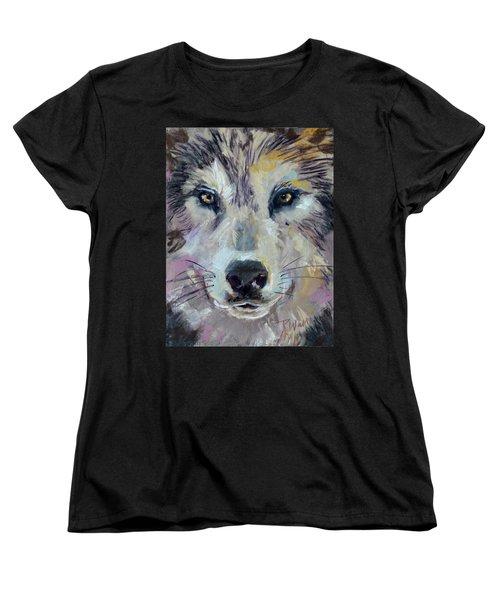 Women's T-Shirt (Standard Cut) featuring the pastel Alpha by Pattie Wall