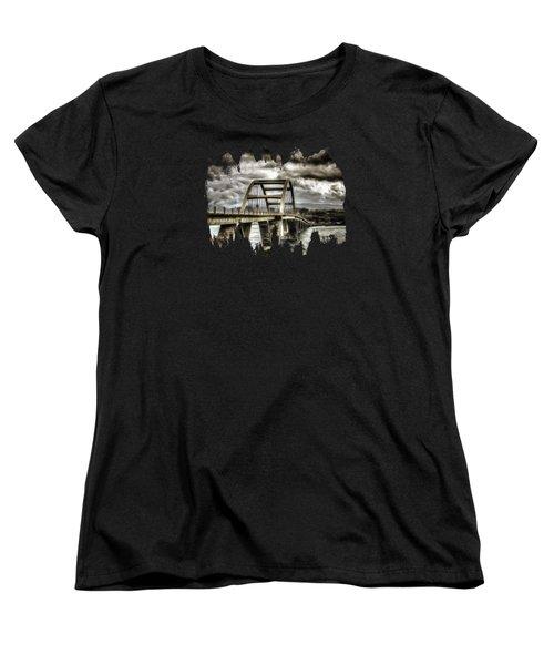 Alsea Bay Bridge Women's T-Shirt (Standard Cut) by Thom Zehrfeld