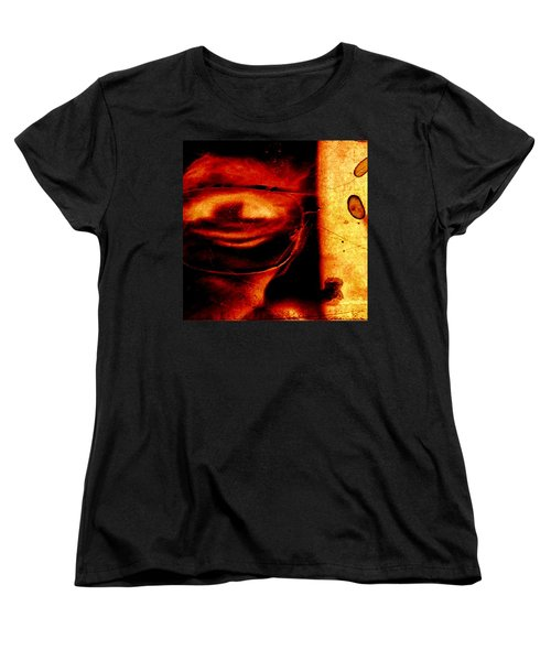 Altered Image In Red Women's T-Shirt (Standard Cut) by Dan Twyman