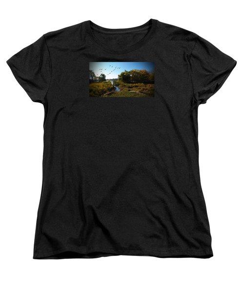 Amber Morning Women's T-Shirt (Standard Cut) by Cedric Hampton