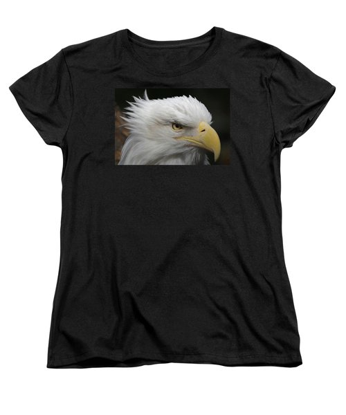 Women's T-Shirt (Standard Cut) featuring the digital art American Bald Eagle Portrait by Ernie Echols