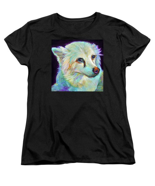 Women's T-Shirt (Standard Cut) featuring the painting American Eskimo by Robert Phelps