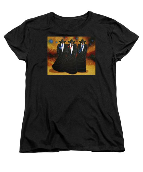 American Justice Women's T-Shirt (Standard Cut) by Lance Headlee