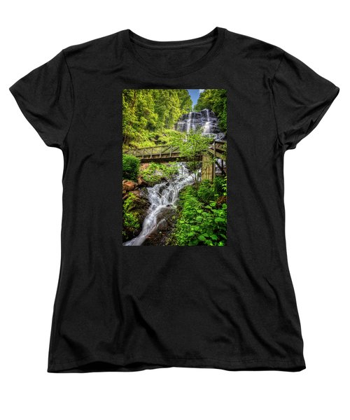 Women's T-Shirt (Standard Cut) featuring the photograph Amicalola Falls Top To Bottom by Debra and Dave Vanderlaan