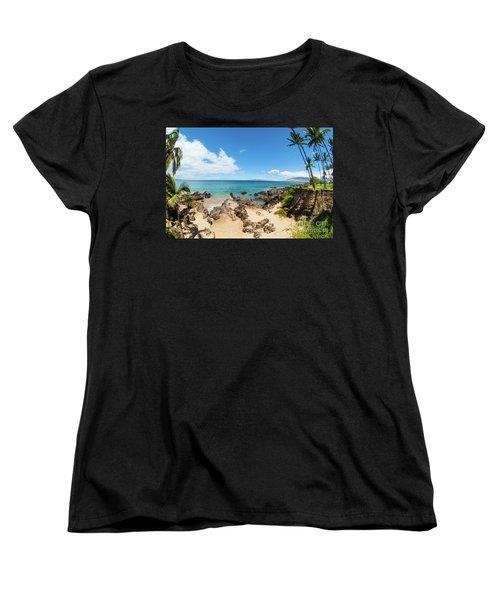 Women's T-Shirt (Standard Cut) featuring the photograph Amzing Beach In Hawaii Islands by Micah May