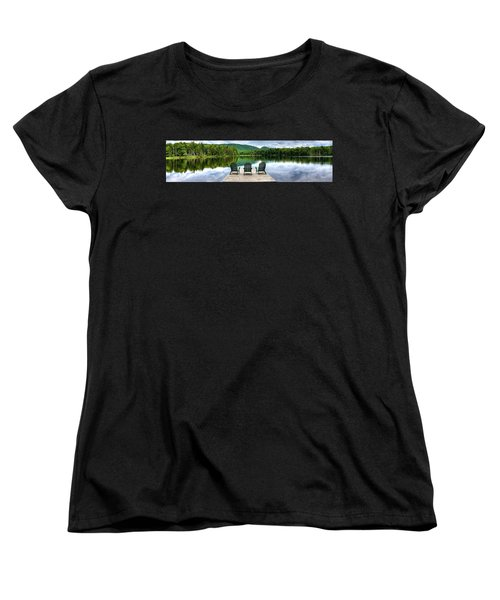 Women's T-Shirt (Standard Cut) featuring the photograph An Adirondack Panorama by David Patterson