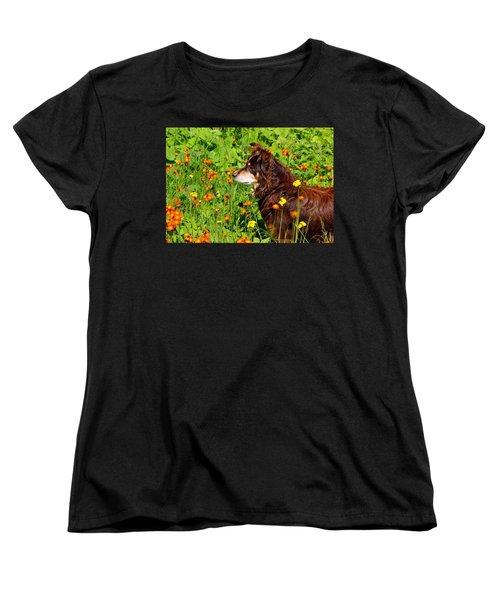 Women's T-Shirt (Standard Cut) featuring the photograph An Aussie's Thoughtful Moment by Debbie Oppermann