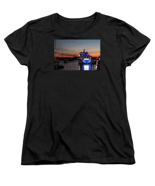 Women's T-Shirt (Standard Cut) featuring the photograph An Evening In Newport Rhode Island Iv by Suzanne Gaff