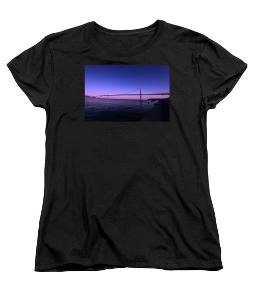 An Evening In San Francisco  Women's T-Shirt (Standard Cut) by Linda Edgecomb