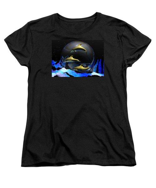 An Ocean Full Of Tears Women's T-Shirt (Standard Cut) by Robert Orinski