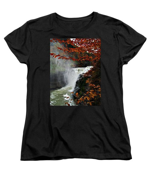 An Upper Letchworth Autumn Women's T-Shirt (Standard Cut) by Lianne Schneider