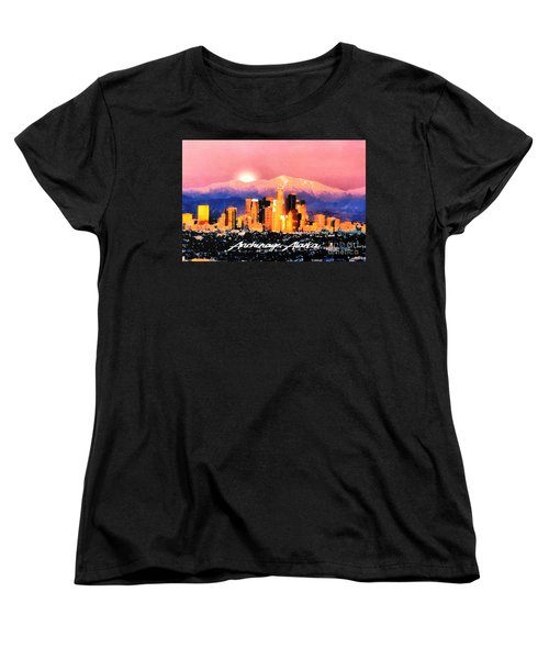 Women's T-Shirt (Standard Cut) featuring the digital art Anchorage - Bright-named by Elaine Ossipov