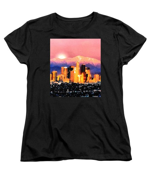 Women's T-Shirt (Standard Cut) featuring the digital art Anchorage by Elaine Ossipov