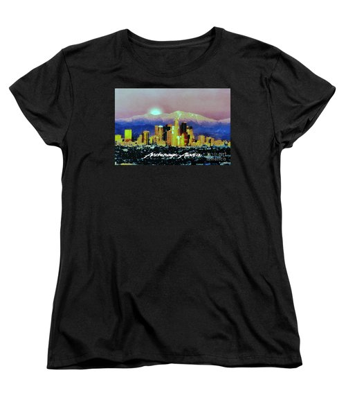 Women's T-Shirt (Standard Cut) featuring the digital art Anchorage-subdued by Elaine Ossipov
