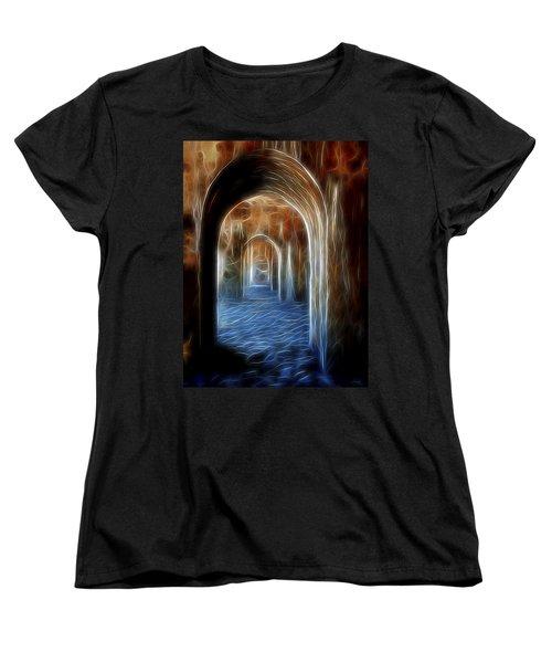 Ancient Doorway 5 Women's T-Shirt (Standard Cut) by William Horden