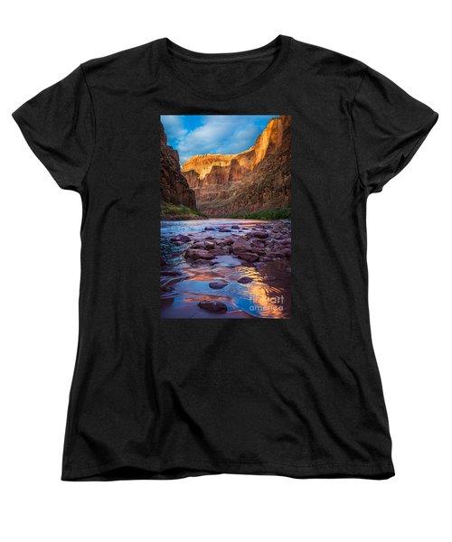 Ancient Shore Women's T-Shirt (Standard Cut) by Inge Johnsson