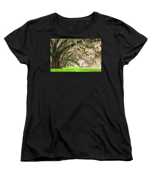 Ancient Southern Oaks Women's T-Shirt (Standard Cut) by Serge Skiba