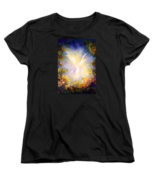 Angel Descending Women's T-Shirt (Standard Cut) by Marina Petro