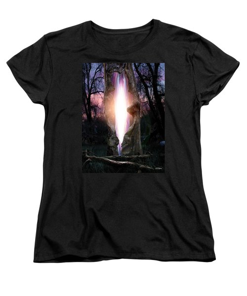 Angel In The Forest Women's T-Shirt (Standard Cut) by Bill Stephens