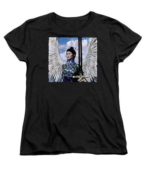 Angel Watercolor Women's T-Shirt (Standard Cut) by Suzanne Silvir