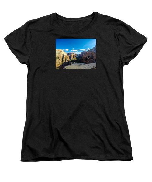 Angels Landing Women's T-Shirt (Standard Cut) by Alpha Wanderlust