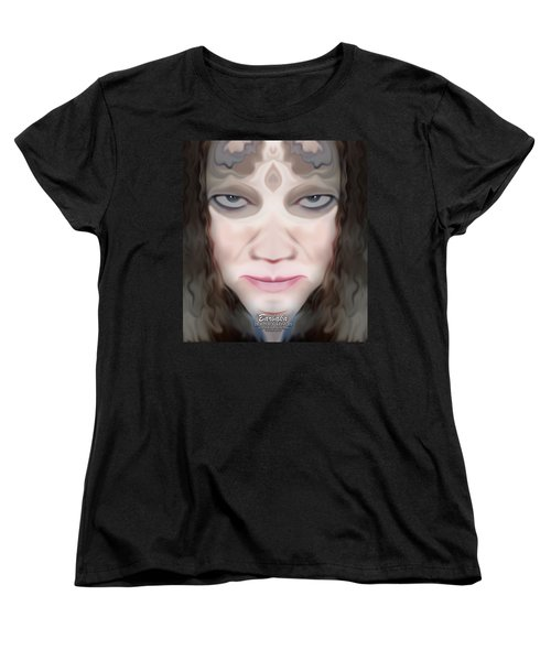 Women's T-Shirt (Standard Cut) featuring the photograph Angry Monster #1 by Barbara Tristan
