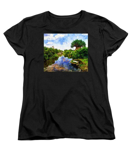 Women's T-Shirt (Standard Cut) featuring the digital art Animal Kingdom Tranquility by Sandy MacGowan