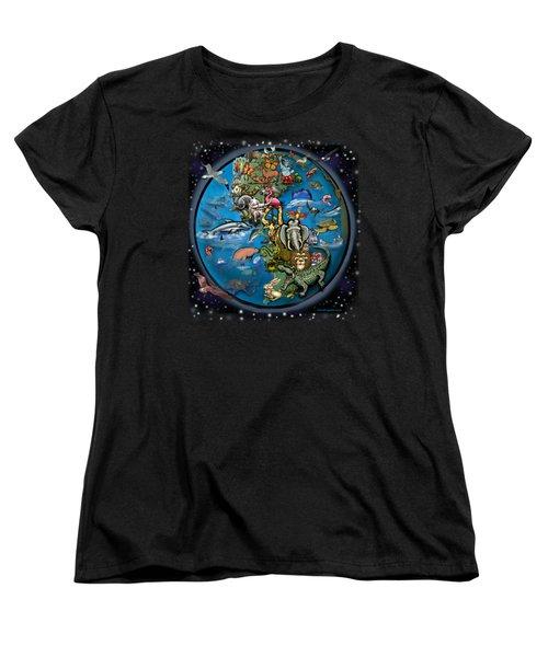 Animal Planet Women's T-Shirt (Standard Cut) by Kevin Middleton