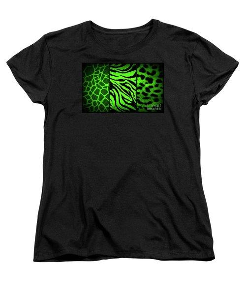 Animal Prints Women's T-Shirt (Standard Cut) by Donna Bentley