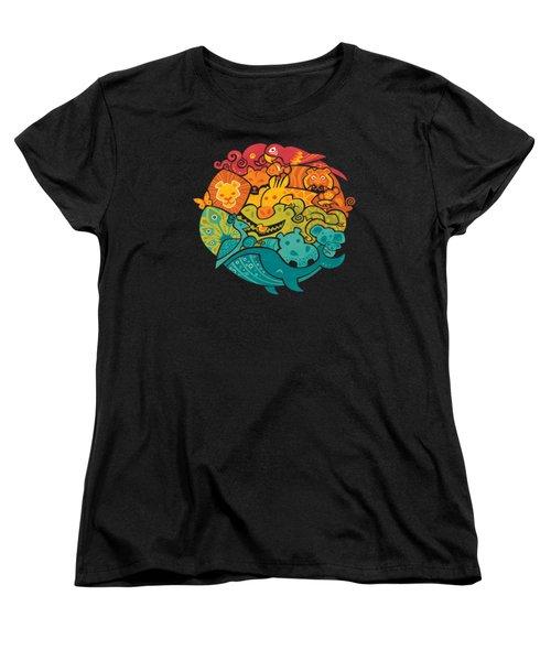 Animals Of The World Women's T-Shirt (Standard Cut)