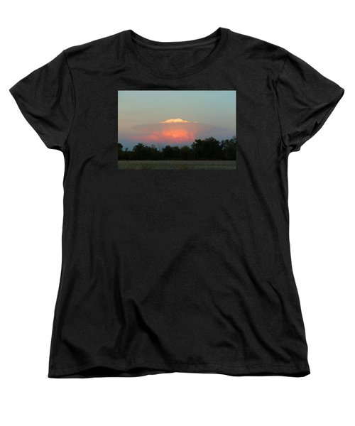 Women's T-Shirt (Standard Cut) featuring the digital art Anvil Cloud Over Kirksville, Mo by Jana Russon