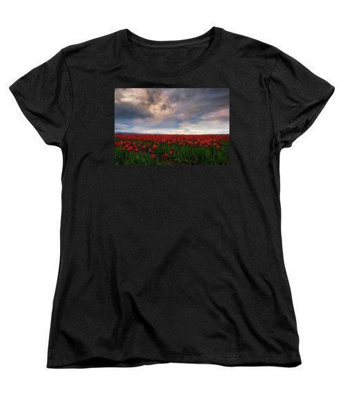 April Showers Women's T-Shirt (Standard Cut) by Ryan Manuel