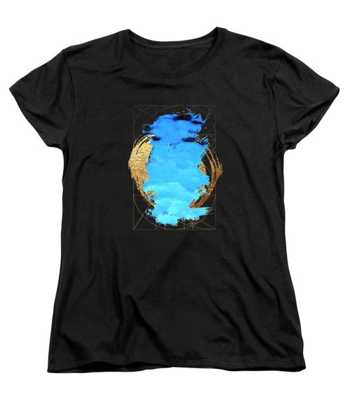 Aqua Gold No. 1 Women's T-Shirt (Standard Cut) by Serge Averbukh