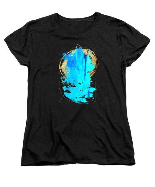 Aqua Gold No. 4 Women's T-Shirt (Standard Cut) by Serge Averbukh