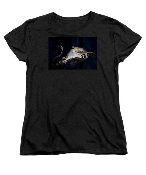 Aquatic Red Wing Fan Women's T-Shirt (Standard Cut) by LeeAnn McLaneGoetz McLaneGoetzStudioLLCcom